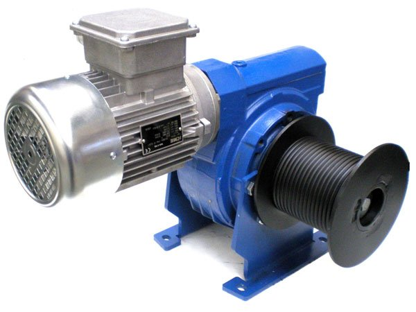 Example of a compact hoist winch from the Dutch winch manufacturer Dromec