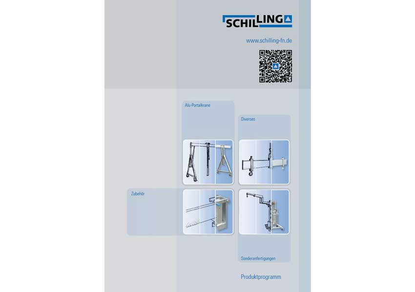 Current catalog of the German manufacturer Schilling Gerätebau of gantry cranes and accessories