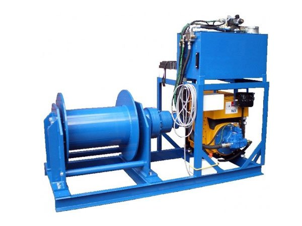 Example of an individually manufactured special hydraulic winch from Dromc