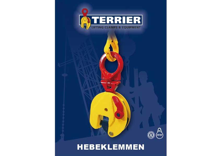 terrier lifting clamps bv, hersteller, hebeklemmen, greifklemmen, hebetechnik, katalog, horizontales heben, vertikales heben