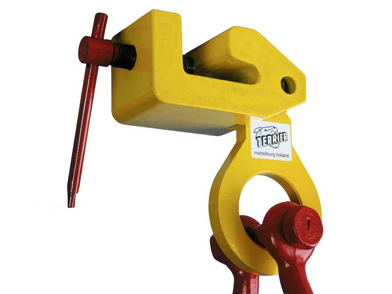 terrier lifting clamps bv, lifting clamps, grab clips, claw, hoist, multipurpose screw clamp, tbs-lr, shipbuilding, hp profile, stuut lifting lashing