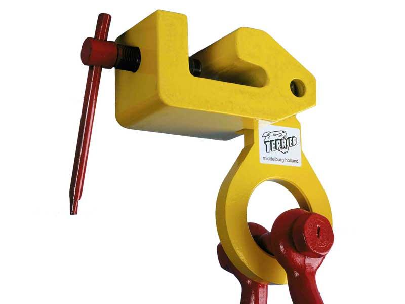 terrier lifting clamps bv, hebeklemmen, greifklemmen, greifer, hebetechnik, mehrzweck schraubklemme, tbs-lr, schiffbau, hp-profil, stuut lifting lashing