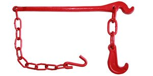 Example of a tension lever, painted red, from the Chinese manufacturer Yuedasite Rigging