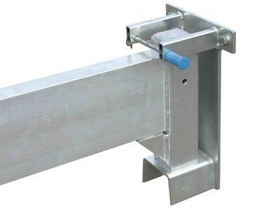 Wall bracket as accessory for aluminum gantry cranes from Schilling Gerätebau