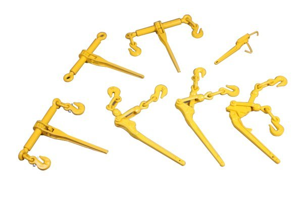 qingdao qinde rigging hardware co. ltd., manufacturer, ratchet load binders, various versions, ro-ro lashing, general cargo, load securing, stuut lifting lashing, lashing material