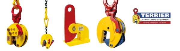 Examples of lifting clamps from the Dutch manufacturer Terrier Lifting Clamps