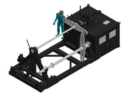 Vermietung von Seil-Wickelmaschinen durch TWS, wie z.B. diese TDH60