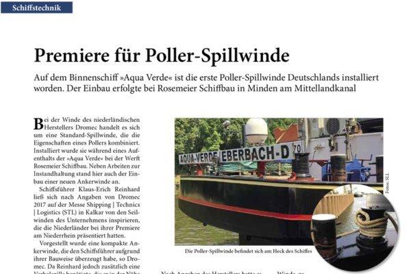 Intro zum Bericht über die erste Dromec Poller-Spillwinde in Deutschland