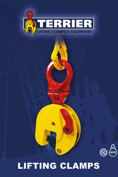 Current catalog of the Dutch lifting clamp manufacturer Terrier Lifting Clamps