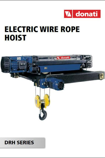 """Cover of Donati catalog """"Electric wire rope hoist"""""""