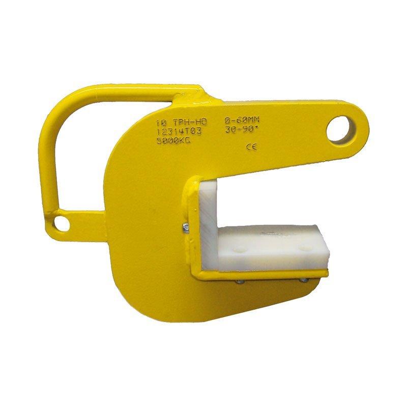 Beispiel für Klemmen des Modells TPH-HD zum Heben von Rohren