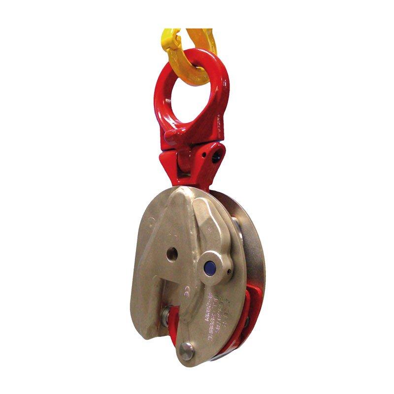 Example of vertical lifting clamps of the model TS-R / TSE-R / TSU-R / TSEU-R
