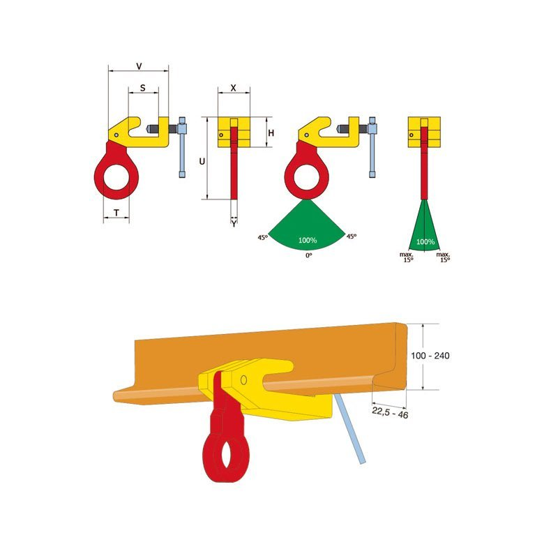 Sketch of the screw clamp TBS