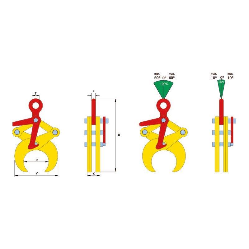 Skizze von Hebeklemme für Rohre TTL