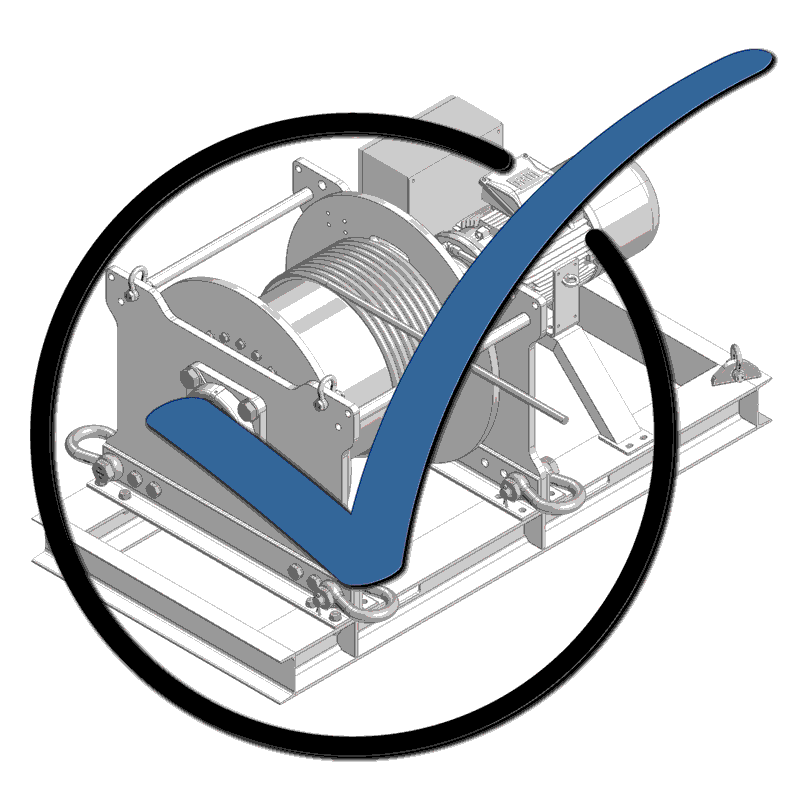 TWS offers a comprehensive service, such as testing and maintenance of cable winches