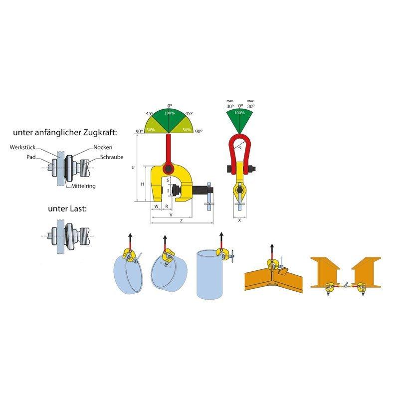Sketch of the multi-purpose screw clamp TSCC / TSCC-W