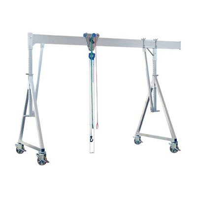Example of an aluminum gantry crane from the Schilling delivery program